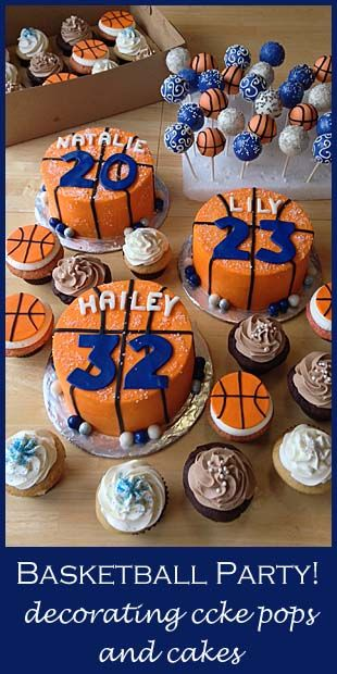 Basketball Party | Little Delights - http://littledelightscakes.com/basketball-party/