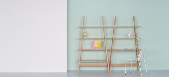 A-Frame Shelving and Desk by Matthew Elton for Ambrose