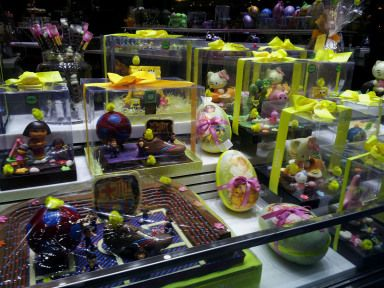 Easter chocolate cakes in Barcelona