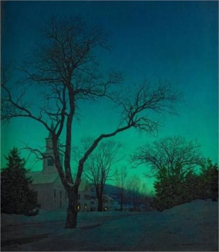 At Close of Day - Maxfield Parrish: