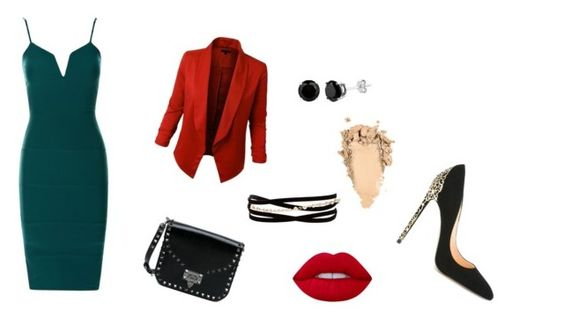"""blazer 2"" by fany-3 on Polyvore featuring moda, LE3NO, Kenneth Jay Lane, Valentino, Lime Crime y Cerasella Milano"