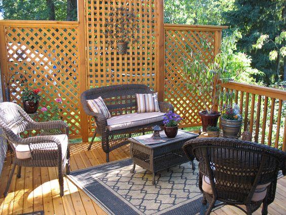Deck privacy panels deck ideas pinterest sun for Deck privacy ideas lattice
