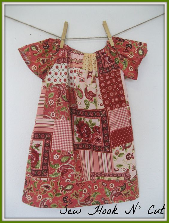 Cottage Rose Peasant Dress by SewHookNCut on Etsy, $30.00