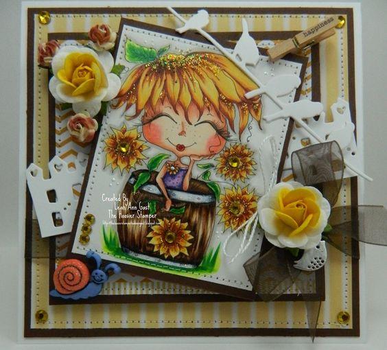 Sunflowers Handmade OOAK Card by thehoosierstamper, $14.95 USD