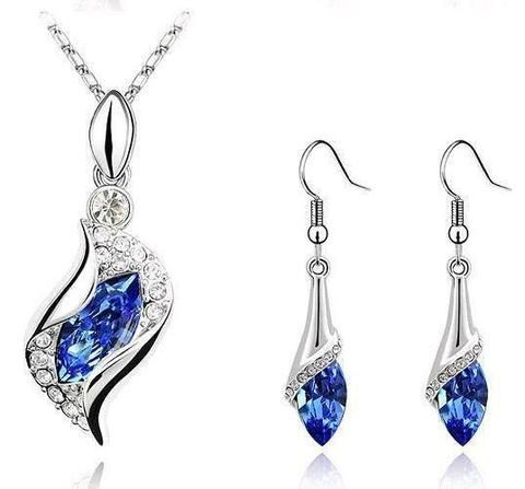 Necklaces - Fashion Charms Austria Crystal Horse Eye Earrings Necklace