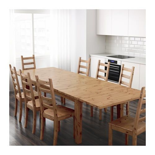 STORNÄS Extendable table, antique stain | Dining table