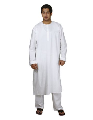 indian costume men white cotton kurta pajama mens pyjama summer dresses christmas gifts. Black Bedroom Furniture Sets. Home Design Ideas