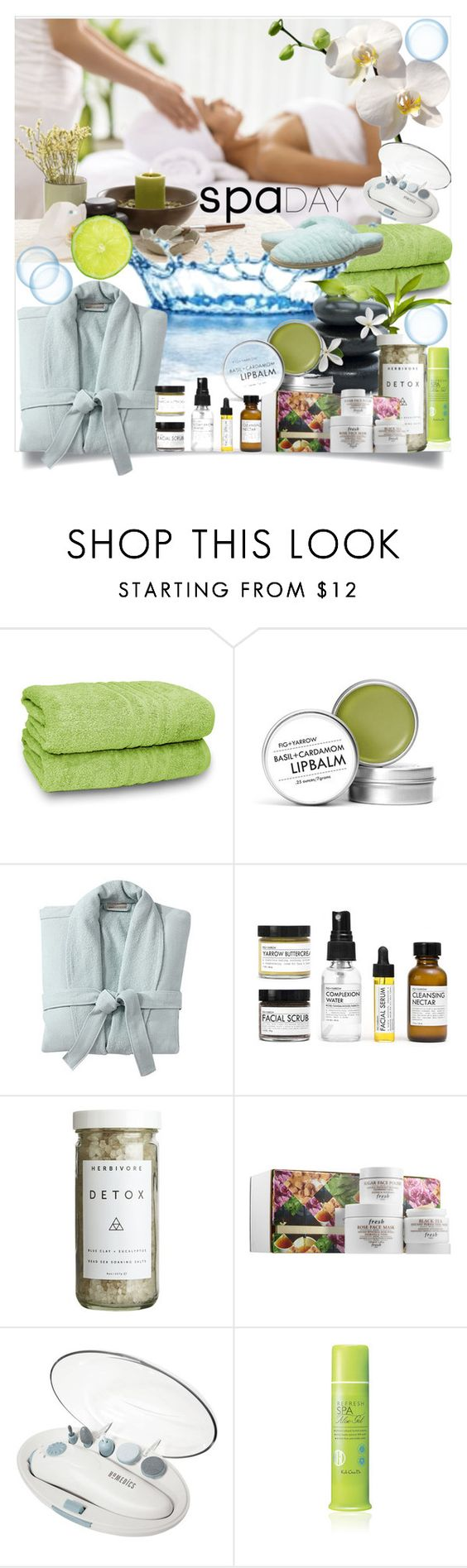 """shh...."" by anilia ❤ liked on Polyvore featuring beauty, Fig+Yarrow, Pottery Barn, CB2, Fresh, Homedics, Koh Gen Do, Acorn and spaday"