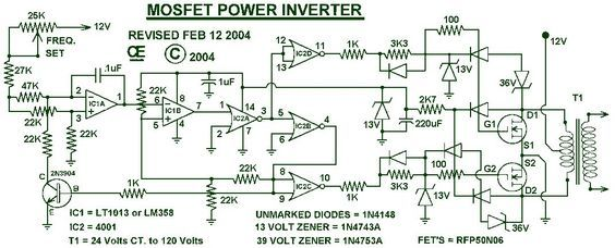 1000w Power Inverter Power Inverters Circuit Diagram