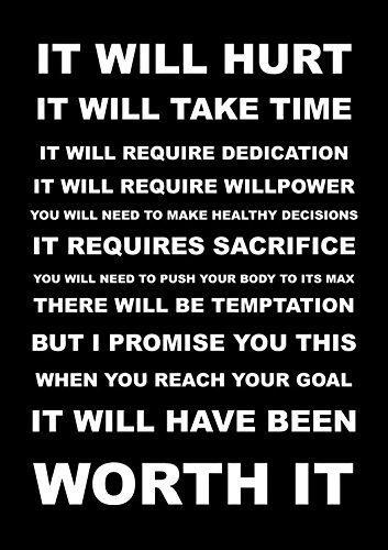 Inspirational Motivational Quote Sign Poster Print Picture(IT WILL HURT) SPORTS, BOXING, CYCLING, ATHLETICS, BODYBUILDING, TRIATHLON,BASKETBALL, FOOTBALL, RUGBY, SWIMMING, MARTIAL ARTS ETC ETC