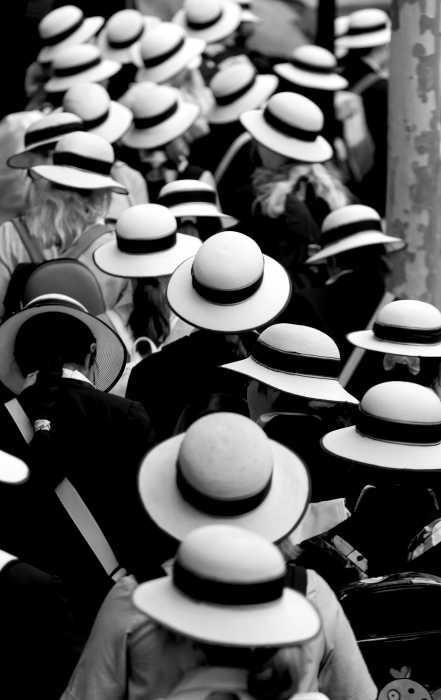 A sea of hats
