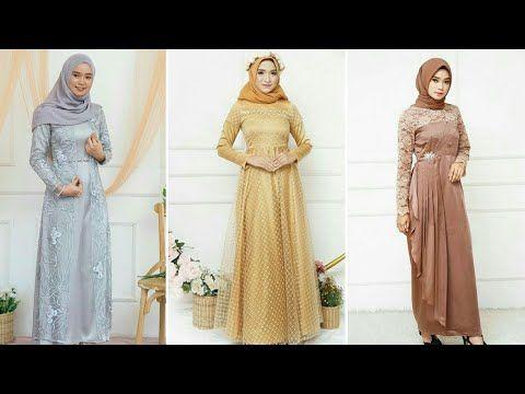25 Trend Baju Gamis Dan Kebaya Brokat Modern Pesta Terbaru 2019 2020 Youtube Gaun Perempuan Pakaian Pesta Model Pakaian