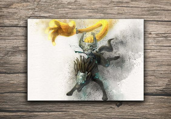 Princess Midna and Wolf The Legend of Zelda Poster by MaxiPrint