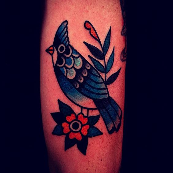 bird tattoo by mark cross