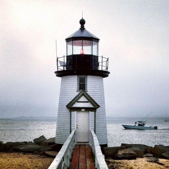 A cloudy morning at Brandt Point #Lighthouse