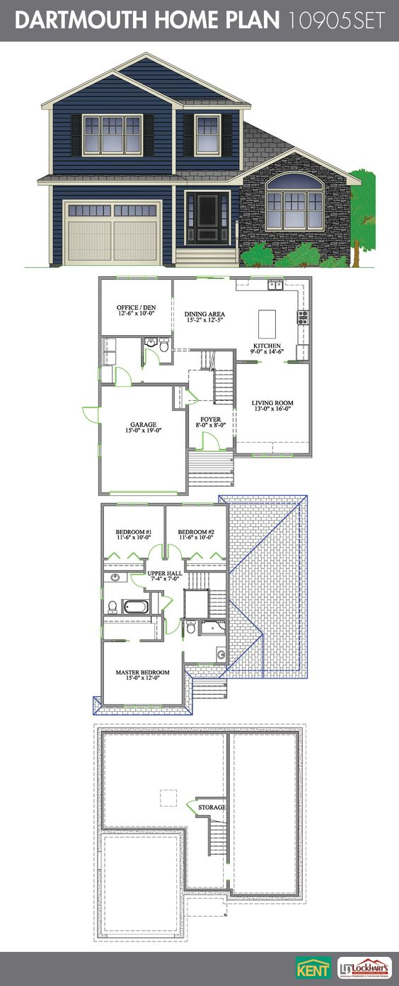 Dartmouth 3 Bedroom 2 1 2 Bath Home Plan Features Living Room Open Concept Kitchen Dining