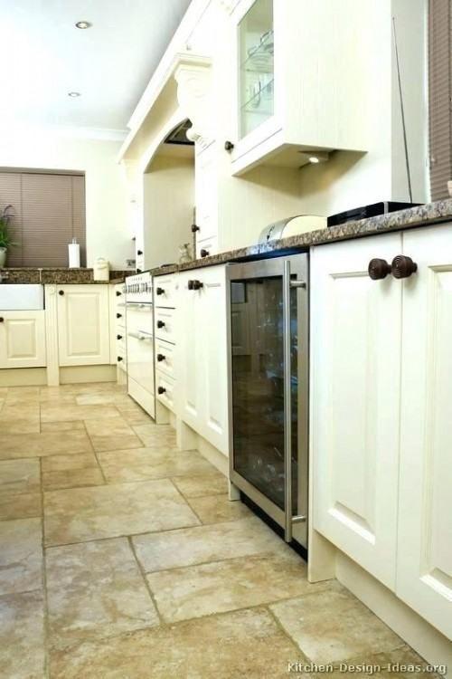Kitchen Floor Ideas With Black Cabinets Flooring White Tile Tiles