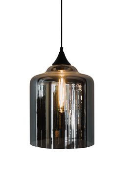 Thick Smoke Glass Pendant Alisa and Lysandra Collections