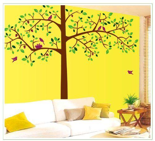 Wall Decals - YYone Birds on 77 Tall Tree Wall Sticker Wall Decal Decor Art -