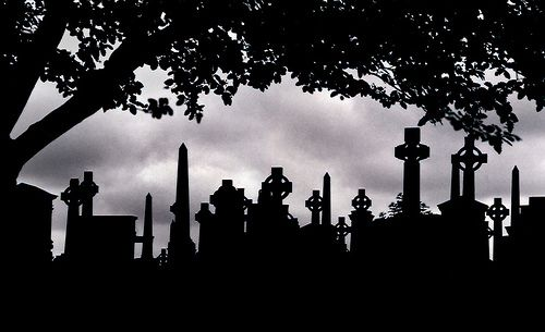 Beautiful graveyard silhouette ::By Mr. Mark::