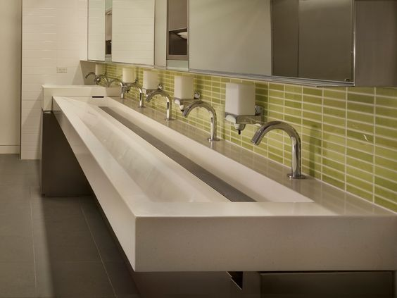 Pinterest the world s catalog of ideas - Commercial trough sinks for bathrooms ...