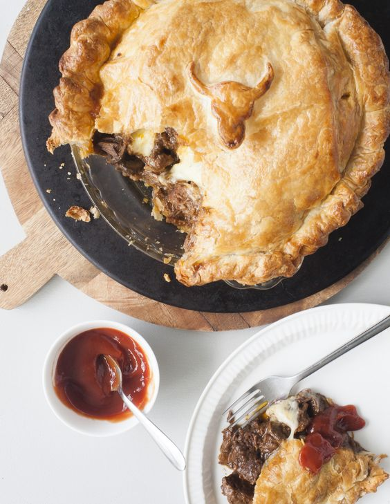 Slow-cooked Steak, Guinness & Cheese Pie. I am a great lover of pies ...