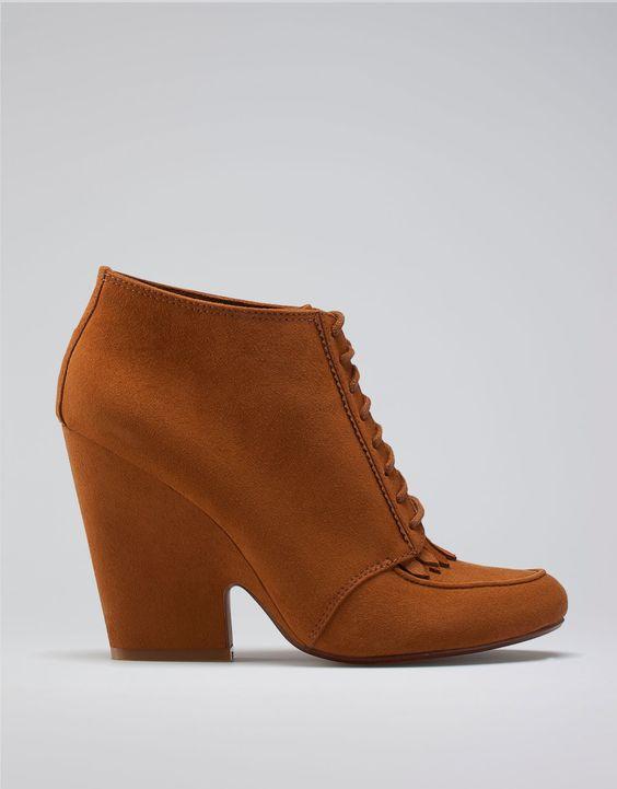 [Bershka fringed ankle boots]