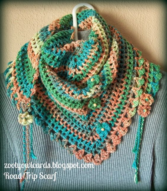 triangle granny scarf ~ free pattern crochet creations ...