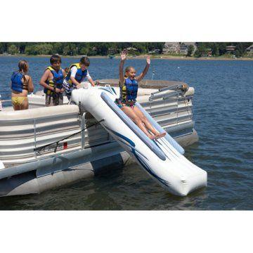 I will have a Pontoon next year. Looks like so much FUN! Pontoon Slide. Really good idea!
