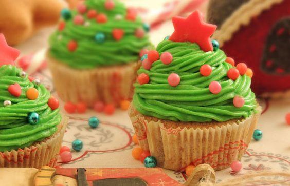 Cupcake albero di Natale #recipe #cupcake