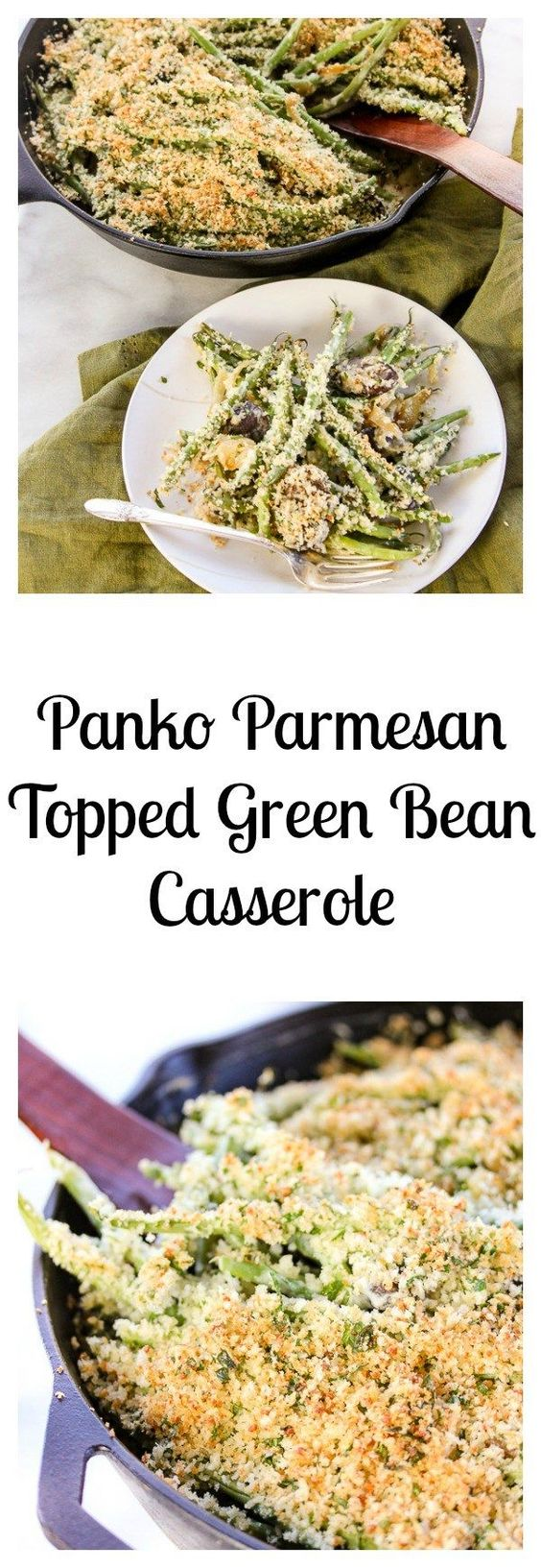 Parmesan Topped Green Bean Casserole made with #Kikkoman panko bread ...