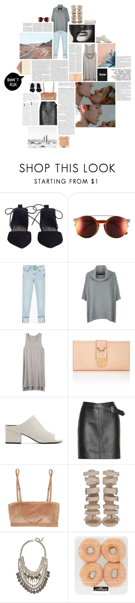 """""""don't ask."""" by tree-house ❤ liked on Polyvore featuring Zimmermann, Sunday Somewhere, Zara, Harrods, rag & bone, Edition, Opening Ceremony, Zephyr, 3.1 Phillip Lim and Yves Saint Laurent"""