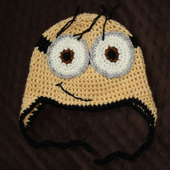 Minion Hat. perfect for fall weather;)