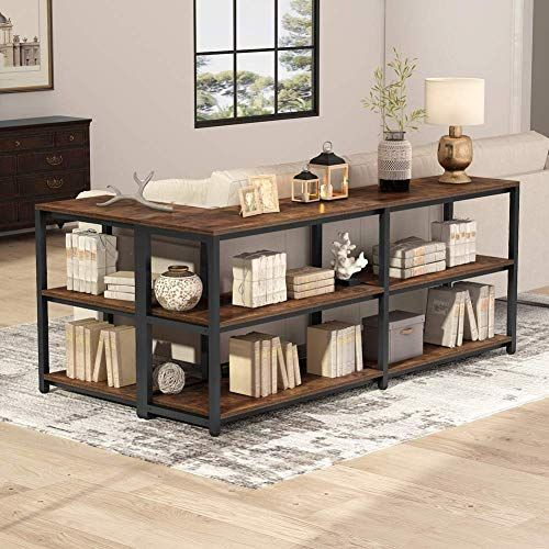 Shop For Tribesigns 70 9 Inches Extra Long Console Sofa Table Behind Couch 3 Tier Industrial Entryway Table Hallway Table Narrow Bar Table Storage Shelves L In 2020 Table Behind Couch Behind