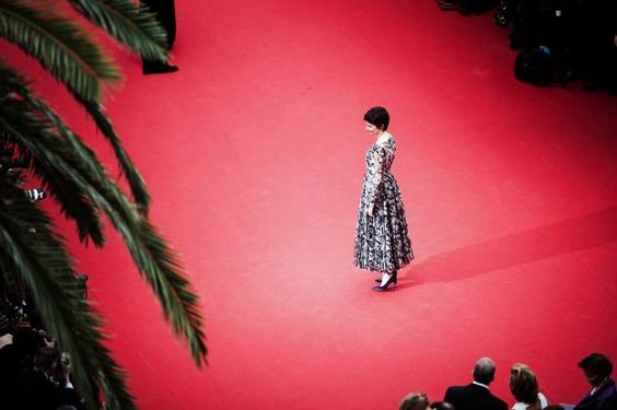 Audrey Tautou on the Cannes Film Festival red carpet. Photo: Francois Durand