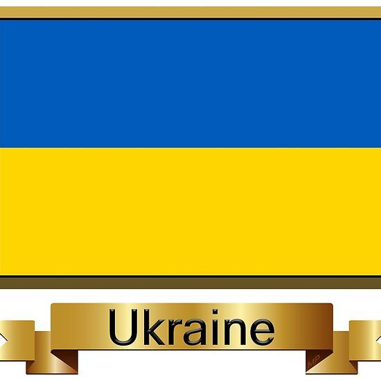 Ukraine Named Flag Stickers Gifts And Products Blue And Yellow Flag Flag Hardcover Notebook