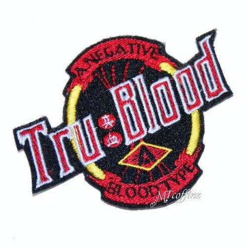 Tru Blood Logo Vampire Embroidered Iron Patch MTCoffinz $8