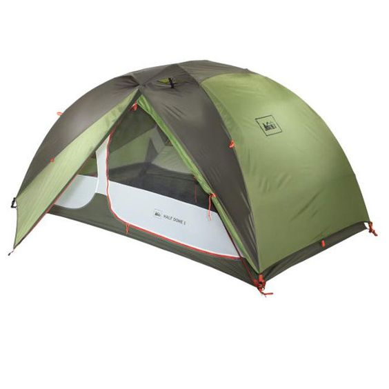 REI Half Dome Tent REI's Half Dome series tents have always treated us well in terms of both usability and durability. The current REI Half Dome 2 ($189) has plenty of room for two people, is an incredible deal for a three season tent, and while we wouldn't call five-pounds two-ounces light—we wouldn't call it terribly heavy either.