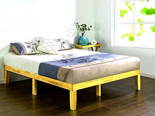 14 Inch Platfrom Bed Frame Wooden Queen Size Low Profile Minimal