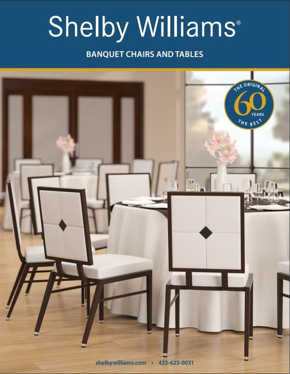 Learn about the custom features and finishes that can be applied to our banquet chairs and tables in our brochure.