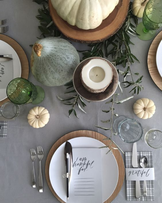 DIY Table Thanksgiving Decorations and Decor | Thanksgiving Table Settings | Give thanks