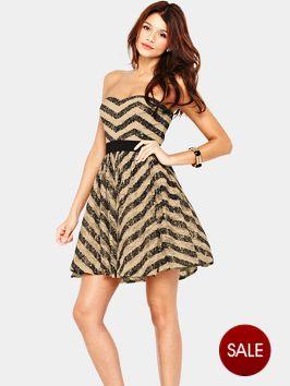 Little Mistress Sequin Bandeau Dress