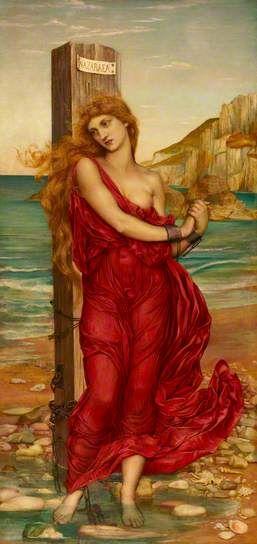 The Martyr (Nazuraea), 1880, by Evelyn de Morgan (English, 1855–1919)