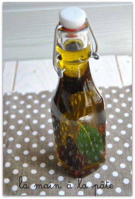 huile d'olive à la tomate séchée et laurier