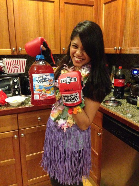 My Hawaiian punch Halloween costume! #Halloween #costumes #Homemade