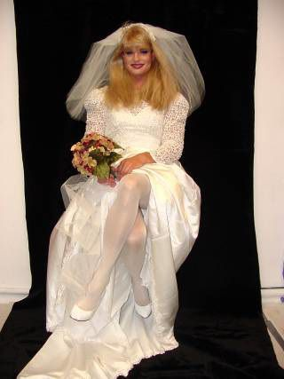 A beautiful and glamorous TV bride.