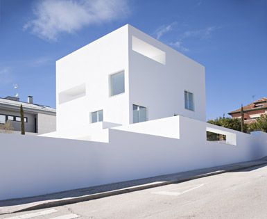 Raumplan House by Alberto Campo Baeza in Madrid, Spain