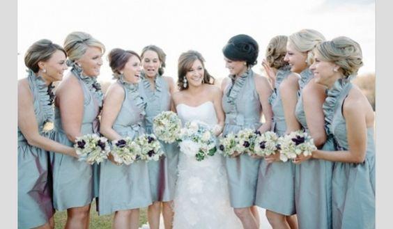 Inspiração para um casamento em azul céu. #casamento #azul #azulceu #noiva #damasdehonor #bouquets