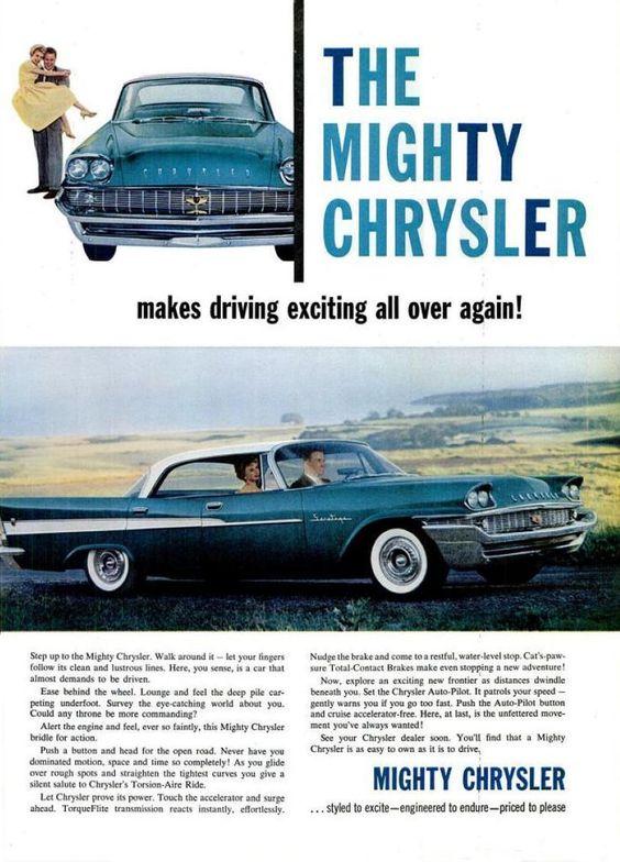 1958 Chrysler Saratoga 4-Door Hardtop #classic #car #ad