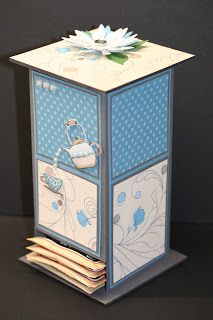 Morning Cup Tea Bag Holder Weekend Project  Instructions link available on post.  Stampin' Up!  Rubber Stamping